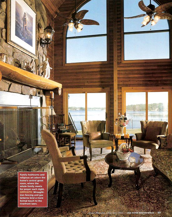 Jojac Log Homes: Featured in Log Home Design Ideas