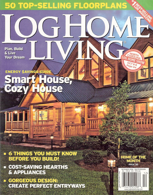Home And Living Magazine jojac log home builders featured in log home living june 2007